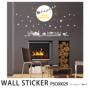 ウォールステッカー 満月のクリスマスイブPSC60029